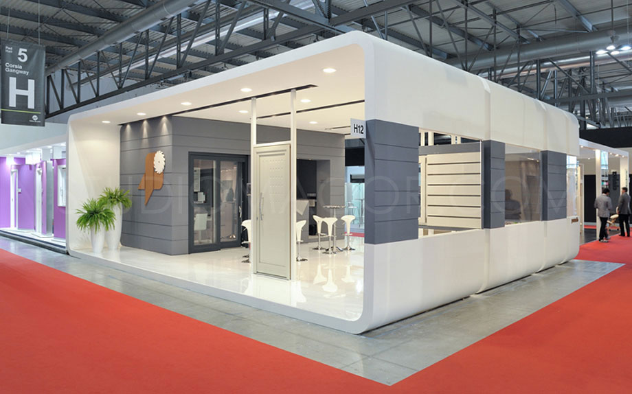 Fotografia di architettura per allestimenti e stand fieristici - Architectural photography for trade fair boots